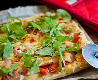 Bacon & Feta Pizza – low Fodmap and gluten-free