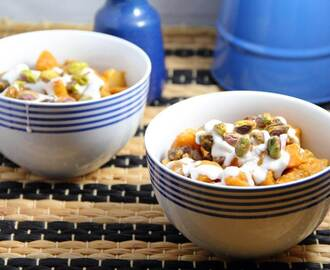 Sweet Potato Coconut Curry with Cranberries and Pistachios | Vegan