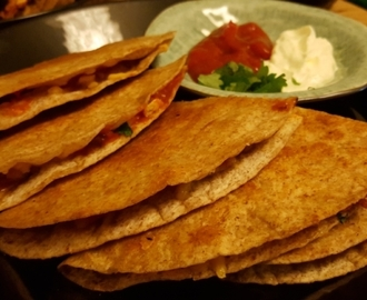 Quesadillat kanalla – chicken quesadillas