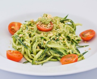 Zucchini Noodles with Avocado Pesto Sauce