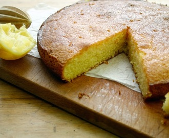 lemon, polenta and almond passover cake