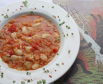 Balsamic Tomato and Butter Beans Soup