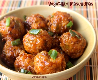 Vegetable Manchurian - Chinese Veg Manchurian (Dry)