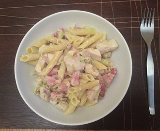 Chicken Bacon and Leek Pasta