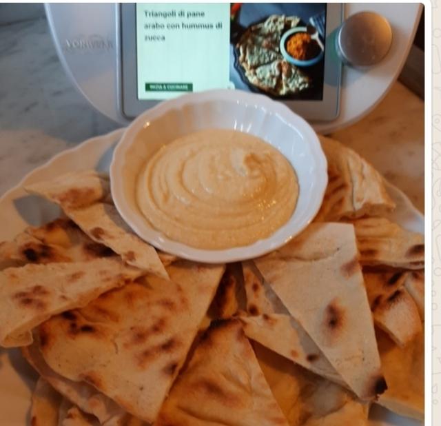 Ricetta Hummus Kenwood.Triangolini Di Pane Arabo Con Hummus Di Ceci Ricetta Da Mytaste
