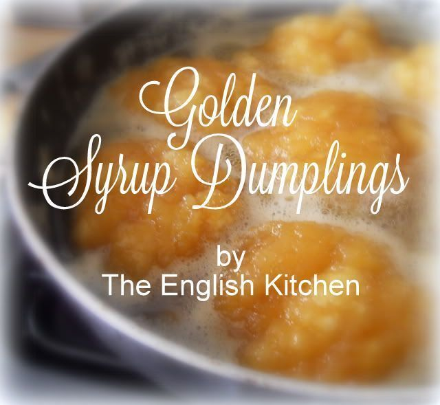 Golden Syrup Dumplings with Custard