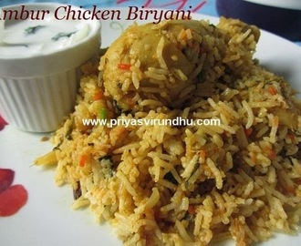 Ambur Chicken Biryani [Both dum process and oven method]