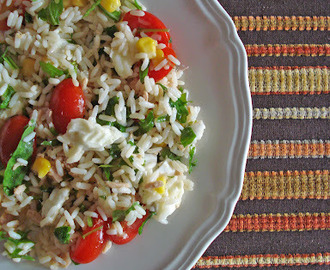 Light rice salad / Insalata di riso leggera