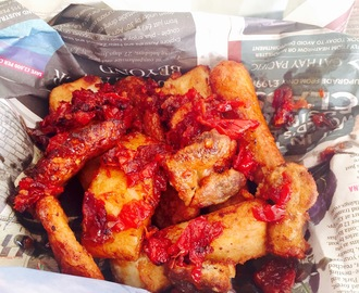 Yam battered with Akara and Plantain. Redefining Nigerian street food