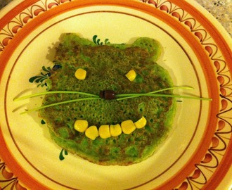 "Vegan Wednesday spezial - Erbsenpancakes ""Hello Kitty"""