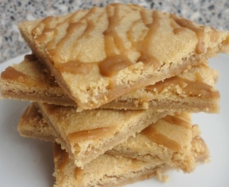 Cookie Butter Cookie Bars with a Coffee Glaze