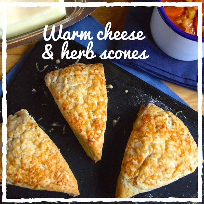 Savoury cheese and herb scones
