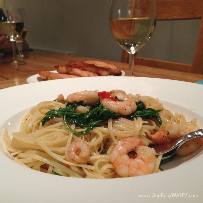 Chilli, Garlic & Prawn Linguine