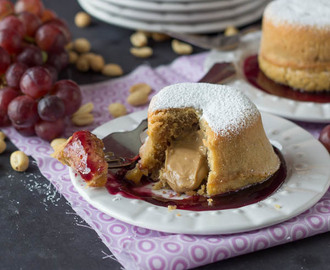 Peanut Butter and Jelly Lava Cakes