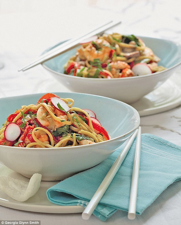 Prawn and Ginger Noodle Stir Fry