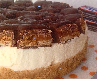no-bake snickers cheesecake.