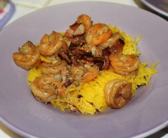 Paleo Shrimp Alfredo with Bacon