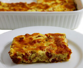Skinny Bacon, Eggs and Potatoes Breakfast Quiche