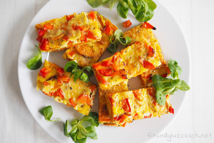 {Clean Eating} Süßkartoffel Frittata Finger