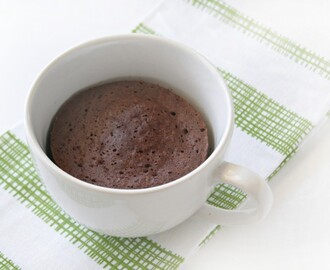 2 minuters protein mug cake
