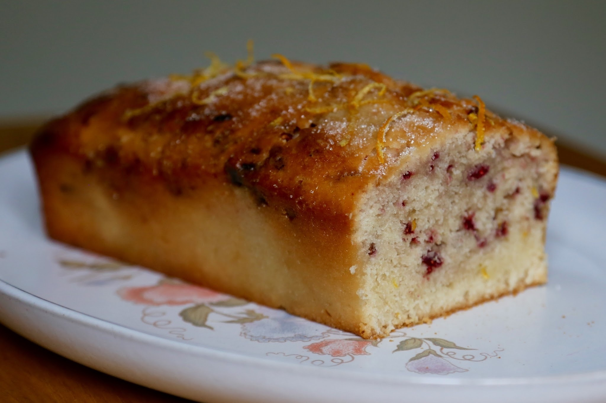 Vegan Raspberry Lemon Drizzle Cake