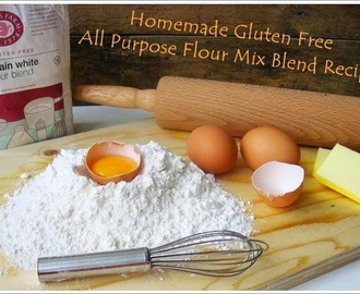 Homemade Gluten Free All Purpose Flour Mix Blend Recipe /  Hausgemachte Glutenfrei Allzweck Mehl Mix Mischung Rezept