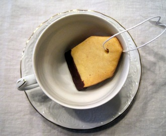 Biscotti di pasta frolla Tea Bag - Shortbread Tea Bag cookies