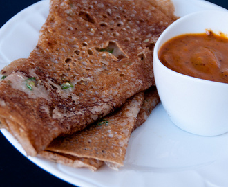 Wheat Dosa/Rava Dosa with a variation using wheat flour