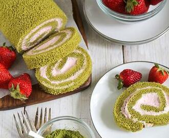 Matcha Swiss Roll Cake Recipe