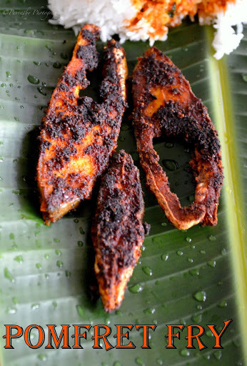 South-Indian Style Pomfret Fish Fry | Vavval Meen Varuval