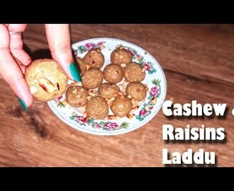 Kaju and kismis laddu recipe - without sugar | How to make dry fruits ladoo | instant laddu recipe
