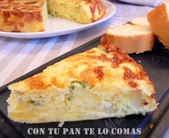 TORTILLA DE PATATAS LIGHT AL HORNO