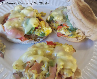 Cooking with Kids:  Breakfast Pizza Sandwiches Recipe Idea