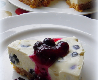 Lemon and Blueberry ( no bake) Tart with Blueberry and Lemon Sauce