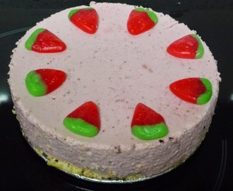 Tarta Mousse de Fresa light
