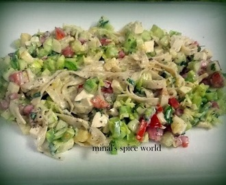 sunrise salad with vegetable and cheese