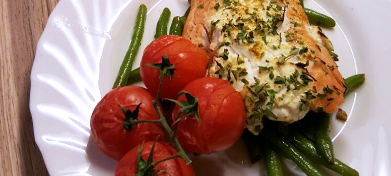Slimming World friendly creamy salmon fillet