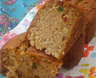Buttermilk Fruit Cake | Eggless Tutti Frutti Cake | Eggless Plain Christmas Cake