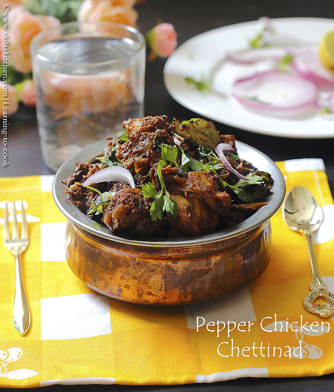 Pepper Chicken Chettinad - Step by step | How to make chettinad pepperchicken - dry version | Indian Chicken Recipes | Chettinad Recipes |Sunday specials