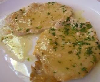 Scaloppine di vitello al limone.