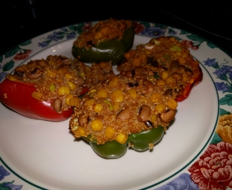 Scorpion stuffed peppers