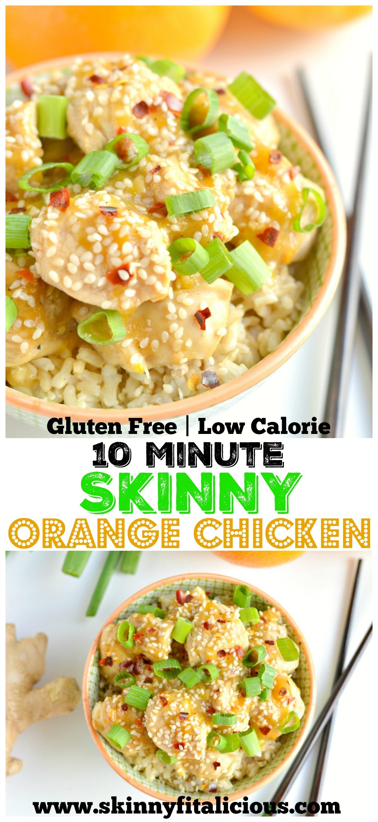 10 Minute Skinny Orange Chicken {GF, Low Cal}
