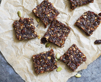Poppy Seed & Date Energy Squares