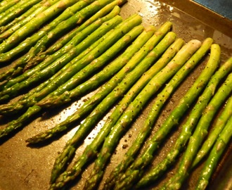 ROASTED ASPARAGUS AND POTATES