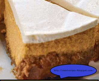 No Bake Pumpkin Cheesecake with Pumpkin Cream cheese Frosting