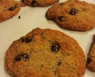 Paleo, Grain Free, Gluten Free, Vegan CHEWY Chocolate Chip Cookies  (now that's a mouthful!)