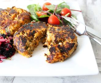 Sweet potato cakes with blackberry salsa recipe