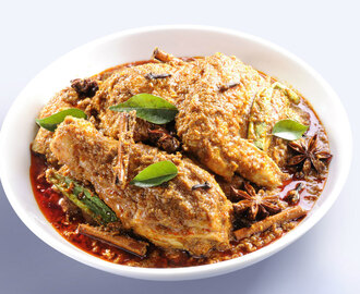 Malay style Rendang Chicken Curry Recipe