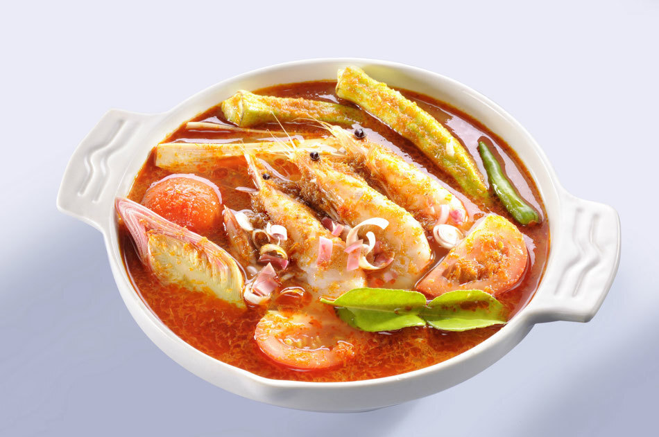 Malaysian style Hot and Sour Seafood Tom Yum Soup Recipe