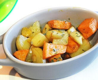 Actifry Recipe: Garlic Infused Mixed Potatoes
